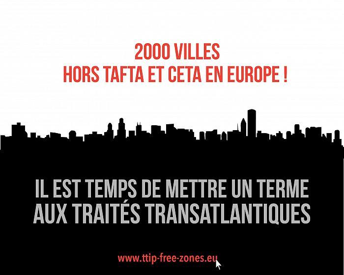 2000 Collectivités territoriales hors TAFTA et CETA en Europe