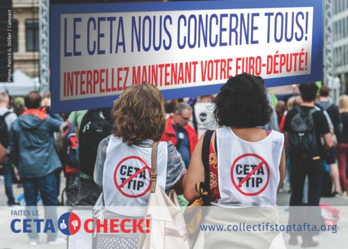 CETA : Interpellez vos parlementaires européens