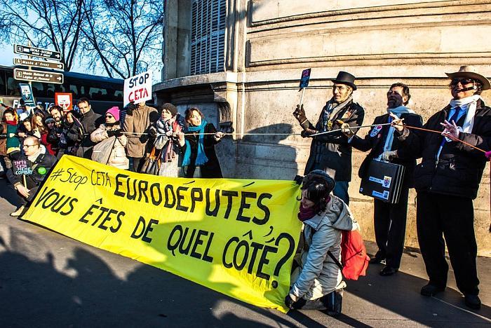 L'Europe mobilisée contre le traité de libre-échange UE-Canada