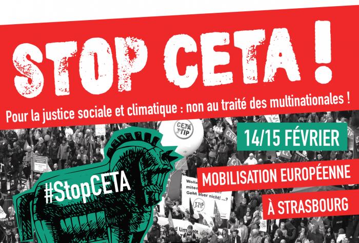 Toutes et tous à Strasbourg pour le vote du CETA !