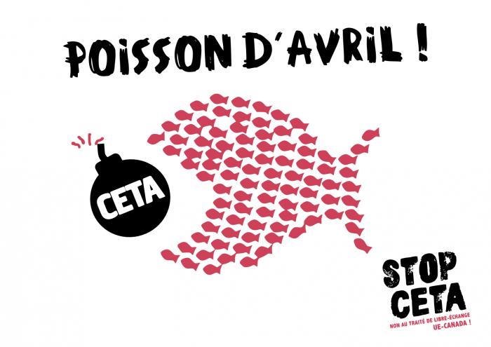 Retrait du soutien de la France au CETA : un poisson d'avril dans le dos de François Hollande
