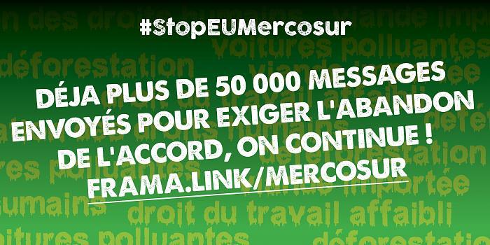 Interpellez Emmanuel Macron et le gouvernement pour exiger l'abandon de l'accord UE-Mercosur !