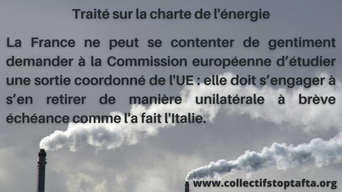 Le Gouvernement demande à l'UE « une sortie coordonnée » du Traité sur la Charte de l'énergie