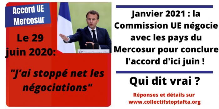 Accord UE-Mercosur : ce n'est pas fini ! Redoublons d'efforts !