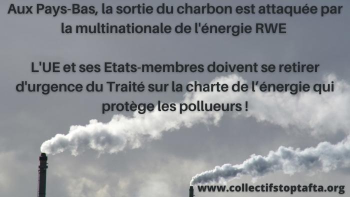 Pays-Bas – La sortie du charbon attaquée par la multinationale de l'énergie RWE via le Traité sur la charte de l'énergie.